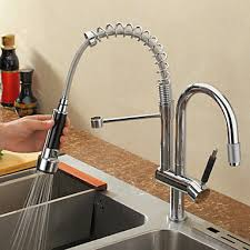 kitchen faucet with pull out spray contemporary chrome pull outpull deck mounted pre rinse