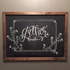 thanksgiving chalkboard fall gather handlettering diy ideas for