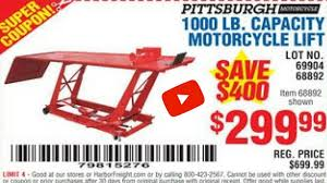 scissor lift table harbor freight harbor freight motorcycle lift modifications youtube