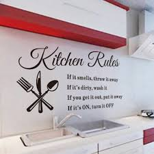 kitchen rules wall decals promotion shop for promotional kitchen removable wall stickers kitchen rules decal home accessories vinyl home decor