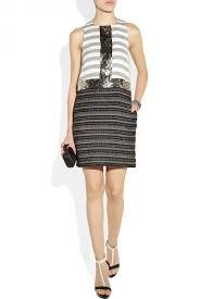 by malene birger by malene birger rasminel embellished striped tweed dress