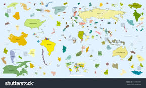 Map Of The World Outline by Map World Puzzle Outline Elements Horizontal Stock Vector