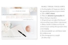 blog design ideas website branding kit floral pink peach rose gold theme blogger