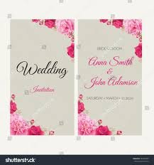 Invitation Cards For Wedding Designs Wedding Invitation Thank You Card Save Stock Vector 587424395