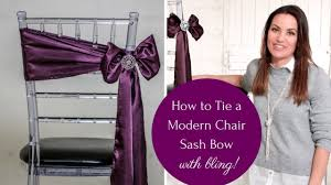 chair sash ties how to tie a chair sash the angled bow method easy and stylish