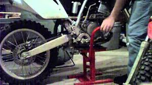 motocross bike stands dirt bike stand youtube