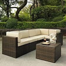 Three Piece Patio Furniture Set - crosley palm harbor 6 piece outdoor wicker seating set three