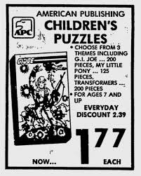 themes about 1984 g i joe puzzles on sale in 1984