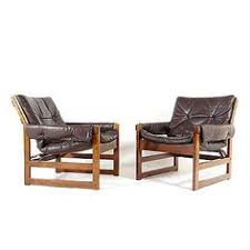 Danish Leather Armchair Vintage Danish Brown Leather Swivel Armchair Retro Chair 1960s