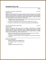 resume it examples beautiful sample rn example registered