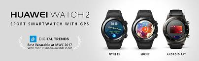 amazon com huawei watch 2 carbon black android wear 2 0 us