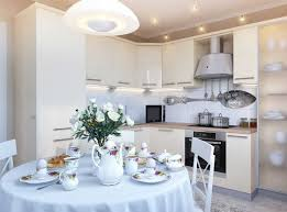 Galley Kitchen Design White Theme Small Galley Kitchen Design With White Dining Table