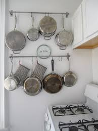 kitchen storage ideas for pots and pans fascinating and rail kitchen pot pan storage how to organize image
