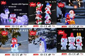 Outdoor Christmas Decorations Santa And Reindeer by Acrylic Led Outdoor Christmas Decoration Outdoor Led Snowman