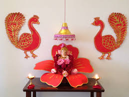 mandir decoration at home ganpati decoration ideas for home on ganesh places to visit