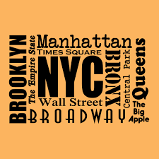new york city places wall vinyl decal