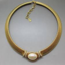 necklace with vintage images Christian dior pearl necklace uk jpg