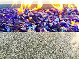 Fire Glass Fire Pit by Amazon Com Large Royal Blue Fire Glass Fire Pit Glass 1 2