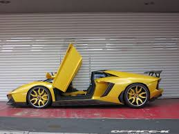 lamborghini custom gold custom aventador roadster novitec torado with forgiato wheels