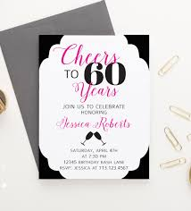 60 years birthday cheers to 60 years birthday invitations milestone birthday party