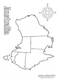 map of australia coloring page print color fun