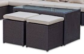 table coffee table design rattan wicker ottoman half round dining