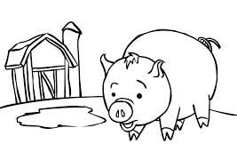 Animal Coloring Pages Baby Pig Coloring Page Kids Coloring Art Pig Coloring Pages