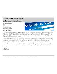qa cover letter software qa engineer cover letter sles and templates