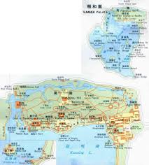 Beijing Map Beijing Summer Palace Map With Chinese Characters Panorama Map Of