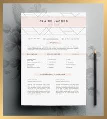 Professional Resume Design Templates Resume Template 3 Page Cv Template Cover By Fortunelleresumes