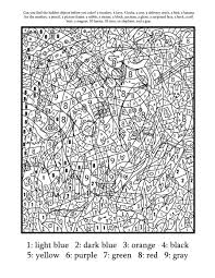 coloring pages for teenagers difficult color by number