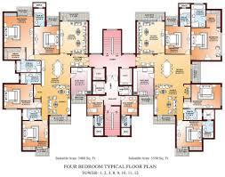 Bedroom Plans Plan For Four Bedroom Flat Fujizaki