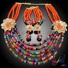 beads necklace wholesale images Red latest design beads necklace african beads jewelry sets jpg