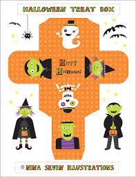 nina free printable halloween treat boxes halloween