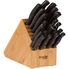 amazon com 20 slot bamboo universal knife block without knives