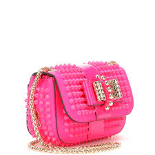 christian louboutin sweety charity studded leather shoulder bag in