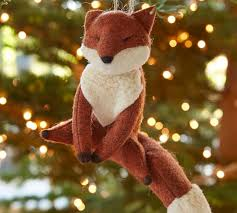 felt fox ornament pottery barn