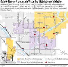 Ring Of Fire Map Golder Ranch Fire District Absorbs Mountain Vista District Local