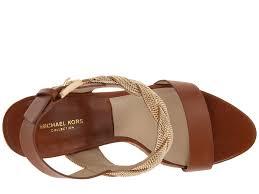 michael kors amelia chain in brown lyst
