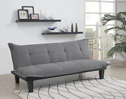 dhp lodge convertible futon couch bed with microfiber upholstery