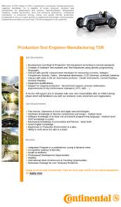 Electrical Testing Engineer Resume Production Test Engineer Manufacturing Tsr 14235 Splixioo