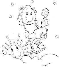 care bear playing stars coloring pages care bears coloring