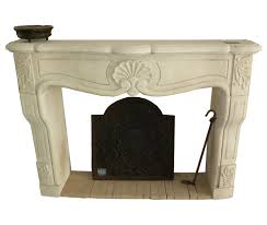 hand carved french limestone fireplace mantel omero home
