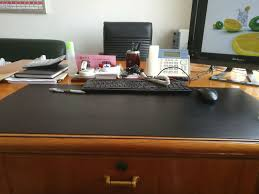 Black Leather Desk Mat Customize Any Size Pu Leather Desk Pad X Raypad