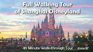 hd full shanghai disneyland steady walking tour of the whole park