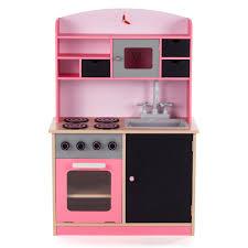 kinderk che holz rosa baby vivo kinderküche spielküche aus holz mit tafel mila in rosa