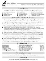cover letter resume sample for office manager resume sample for