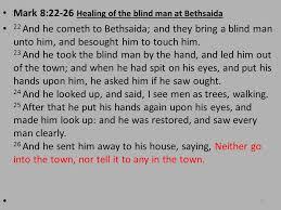 Blind Man At Bethsaida Credits Study Of Mark Chris Reeves Maps History And Ppt Download