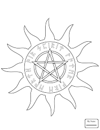 coloring pages for kids arts culture wicca wiccan pentacle
