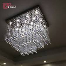 Square Chandelier New Square Design Modern Lighting Large Chandelier Living
